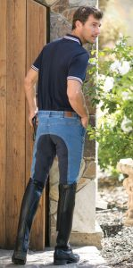 mens jean breech rear